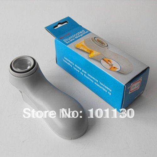 8x42mm Handheld Illuminated Magnifier Handheld Magnifying Glasses with Scale CY-017