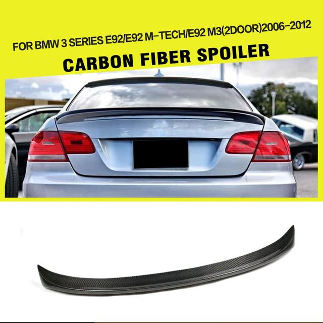 Car-Styling Carbon Fiber Rear Wings Car Trunk Lip Spoiler for BMW 3 Series E92 325i 328i 330i Coupe 2007 - 2013