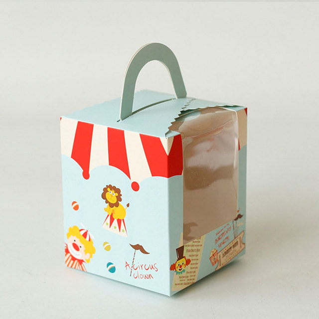 9.4*9.2*11 Cm Colorful West Point Bag Covers Gift Boxes Cake Box Candy Baking Packaging Cartoon Cookie Dessert Package Storage