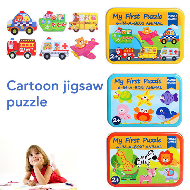 Children's Educational Toys Card Beautiful Cartoon Jigsaw Puzzle Decroration Funny Constructor Wooden puzzle toys Education Kids