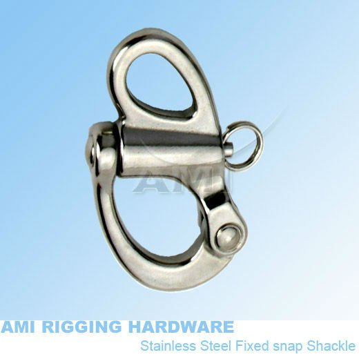 96mm Snap Shackle Fixed Eye Stainless Steel 316 Marine Boat Rigging Hardware