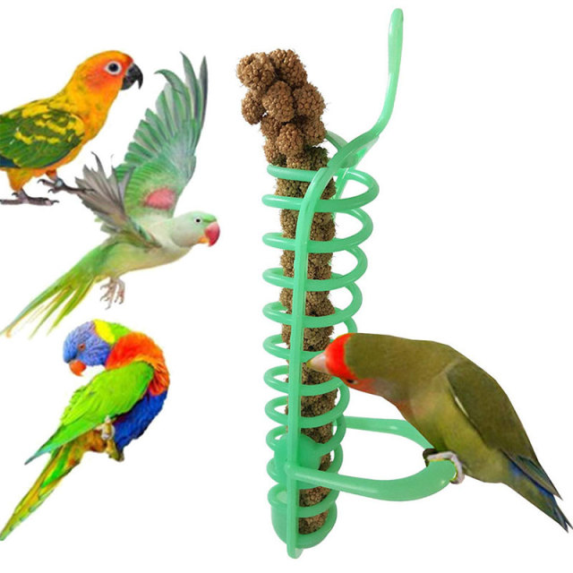 Bird Toys Balcony Stairs Mini Plastic Parrot Toy Puzzle Park Green Parrot Foraging Toy Outdoor Branch Lightweight Safety