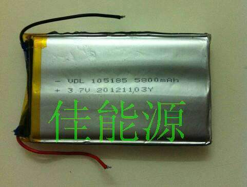 105185 5800MAH mobile power special offer 3.7V high capacity polymer lithium battery sales Rechargeable Li-ion Cell