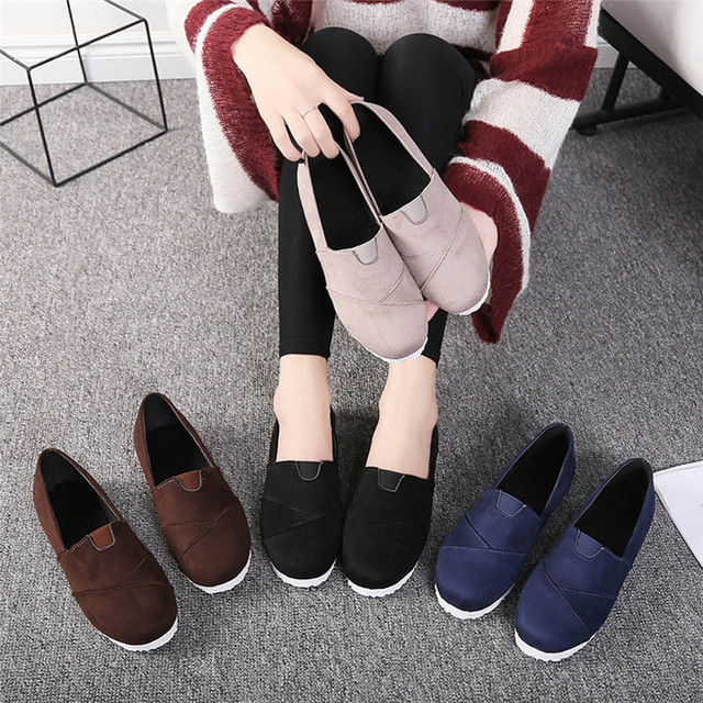 Women Casual loafers Soft Breathable Autumn Spring Cloth Flat Shoes Woman Slip on Casual New Flats Shoes Size 35-43 Sapatos #40