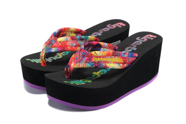 Free shipping 2015 Hot Sell Sandal Woman Flip Flops,Ladies' High Heeled Sandals Fashion Beach Slippers Wedge Bowknot Slippers