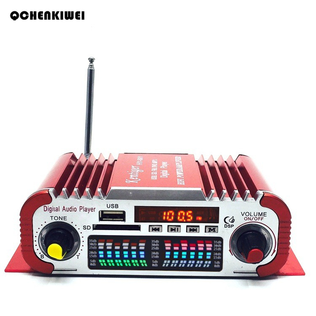 2019 New Hot HY601 Hi-fi Mini Digital Motorcycle Auto Car Stereo Power Amplifier Sound Mode Audio Music Player Support USB FM SD