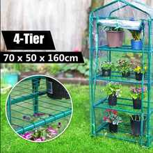 70x50x160cm Garden Greenhouse 4-Tier Tall Green Hot Plant House Shed Storage PVC Warm Garden Tier Cover with Stand