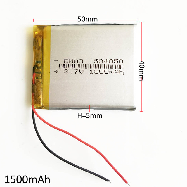 3.7V 1500mAh 504050 Lithium Polymer LiPo Rechargeable Battery Li ion cells For Mp3 DVD PAD mobile tablet pc power bank Camera