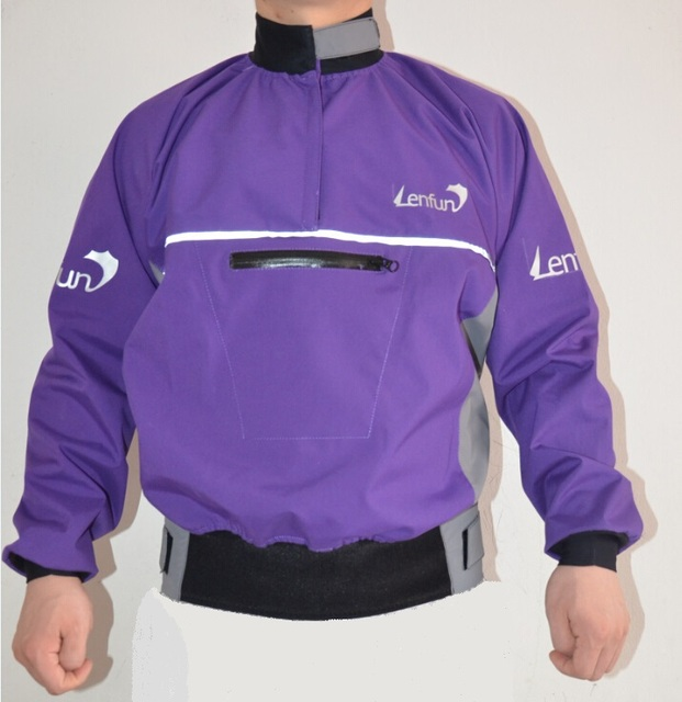 Lenfun Semi-dry tops spray jackets  water resistant cags  paddle  for kayak caneoing,sailing fishing surfing