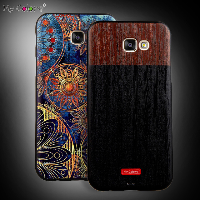 MY COLORS 2017 A7 3D Pattern Soft TPU Ultra-thin Back Cover Case For Samsung Galaxy A7 A720 5.7 Inch Coque Phone Bag Fundas