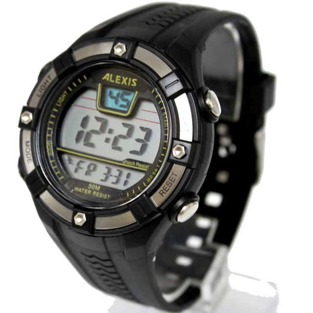 Fashion Sport Men Digital Watches Water Resistant 3ATM ALEXIS Brand Men Date Alarm BackLight Digital Watch DW381B
