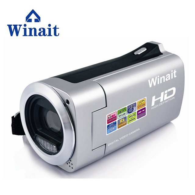 WINAIT hot sell HD 720P HDV-828 digital video camera with max 8mp free shipping