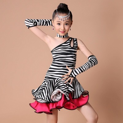 Girl Kids Satandard Latin Competition Dress Children Modern Dance Ballroom Salsa Rumba Tango Samba Cha Cha Costumes