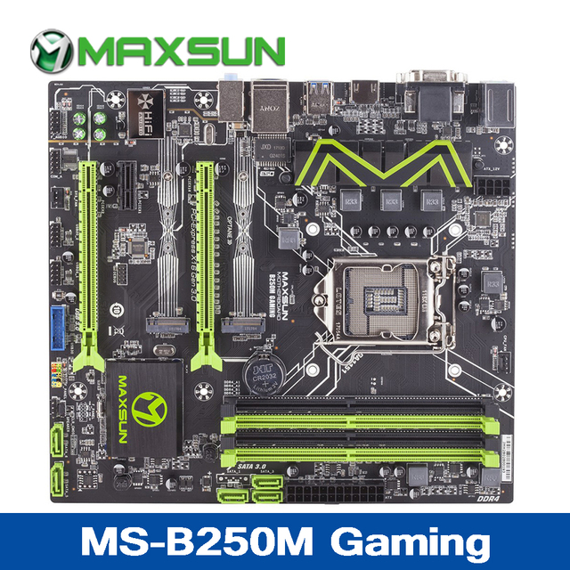 Newest B250M Gaming Motherboard VGA+DVI+HDMI Double channel DDR4 2400/2133MHz Memory 5xSATAIII /2xM.2 interface Gaming Mainboard