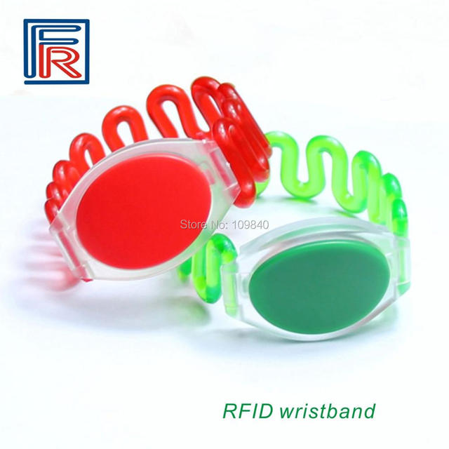 Free shipping 500pcs 125khz RFID ABS Bracelet for spa/Fitness/swimming,Water-proof ABS wristband only reader