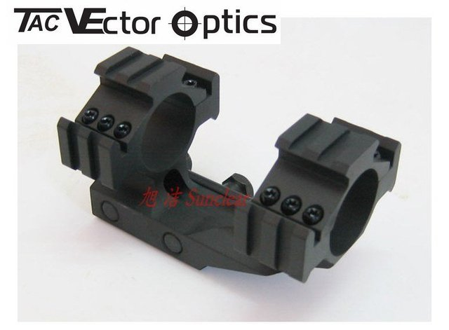 Scope Tactical 30mm / 1 Inch OnePiece Comapct Weaver Mount Triple Picatinny Rails w/ Integrated Rings