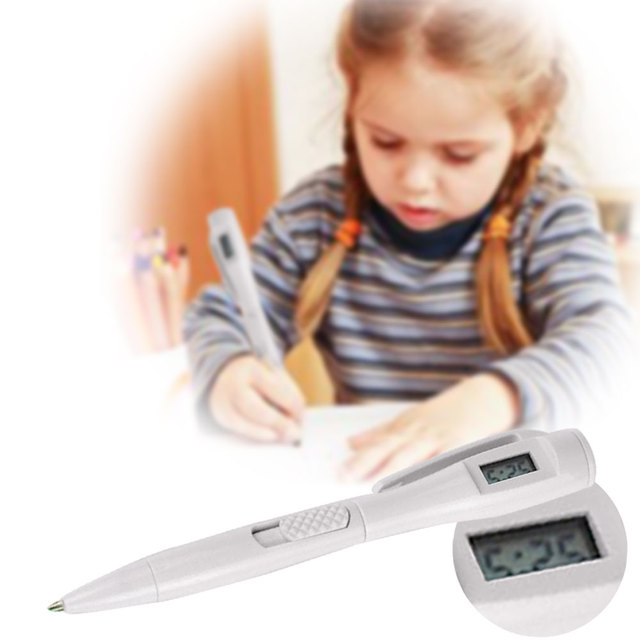 Cobee Electronic Watch Ballpoint Digital Children Office Exam Writing Stationery White
