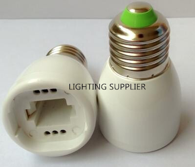 100pcs E27 to G24 LED Lampholder Converter Light Bulb Lamp Socket Adapter Free Shipping