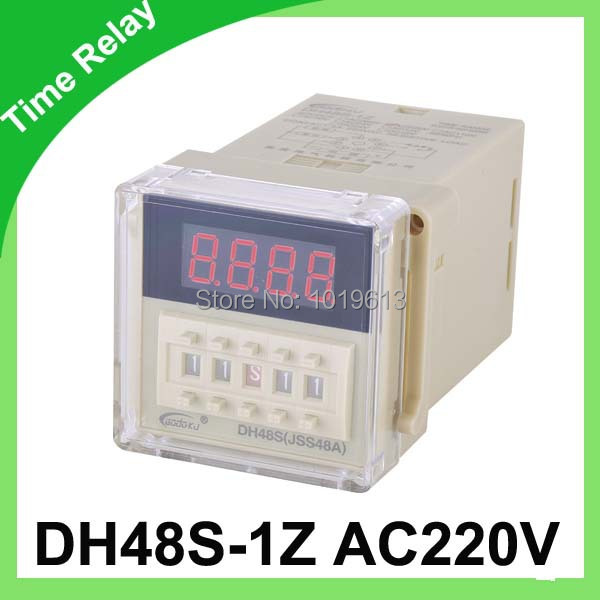 DH48S-1Z  AC 220V Delay Timer Time Relay 8 Pins & Base