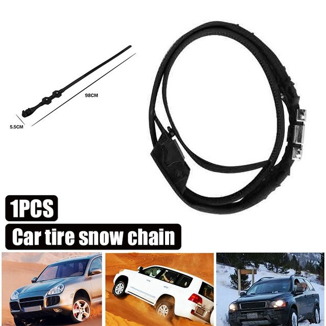Black TPU Snow Chain Accessories Roadway Safety Snow Tire Belt Anti-Skid Chains Universal Winter Driving Vehicle Tyre