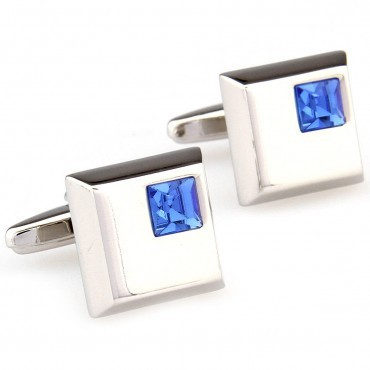 Blue Crystal Cufflink 15 Pairs Free Shipping