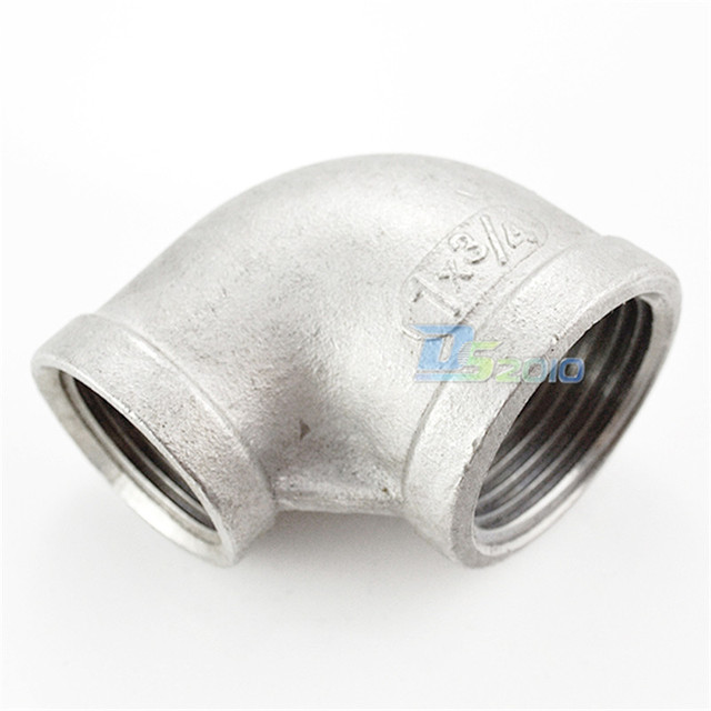 """MEGAIRON 1-1/4""""X3/4"""" Female Threaded Elbow Reducer Pipe Fitting 90 Degree SS304 BSP"""