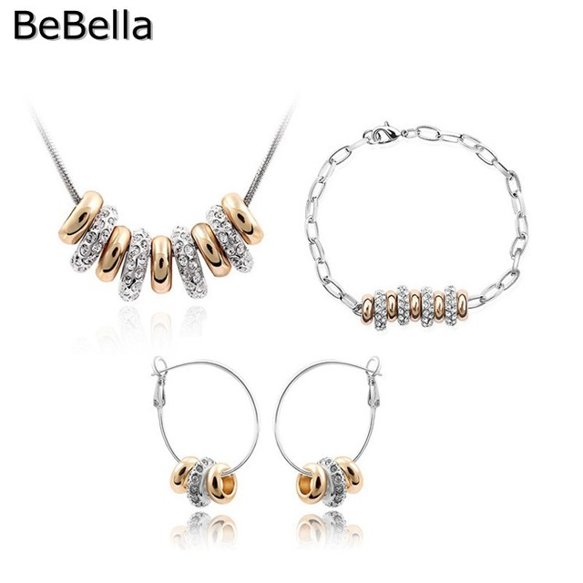 BeBella 9 beads necklace jewelry sets crystal necklace set for women gift