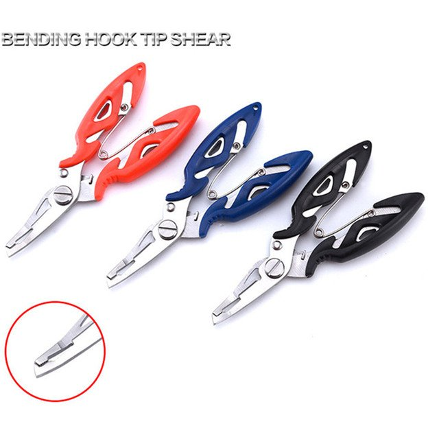 2019 New Fishing Plier Scissor Braid Line Lure Cutter Hook Remover Tackle Tool Cutting Fish Use Scissors Fishing Pliers