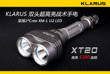 Free Shipping Klarus xt20 u2 xm-l led double slider strong light flashlight