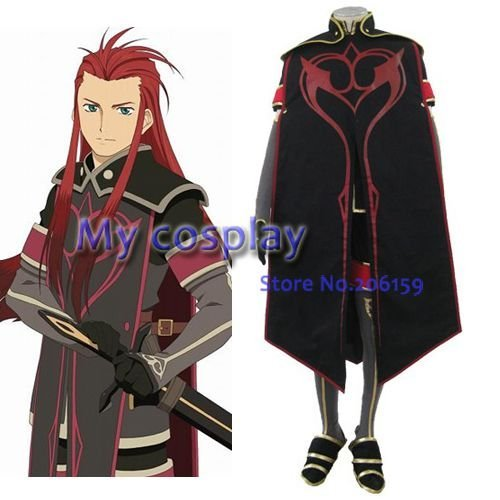 Tales of Abyss Asch Men's Cosplay Costume Male costume  Classic Halloween Costumes Men Clothes-- Freeshipping