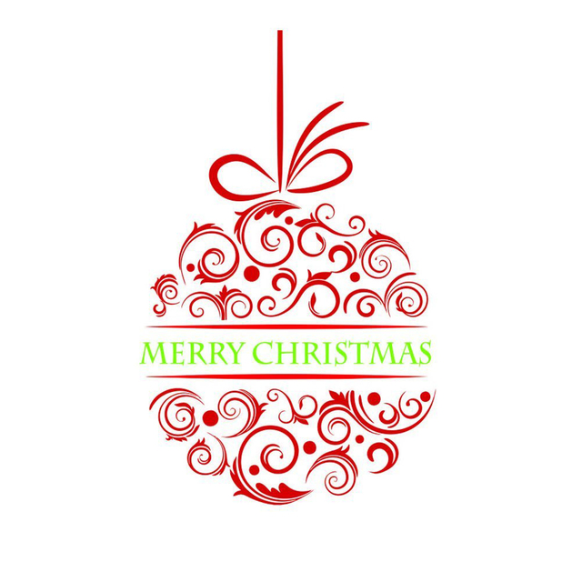 Merry Christmas Ball Wall Stickers Decal Removable Art Vinyl Home Kid