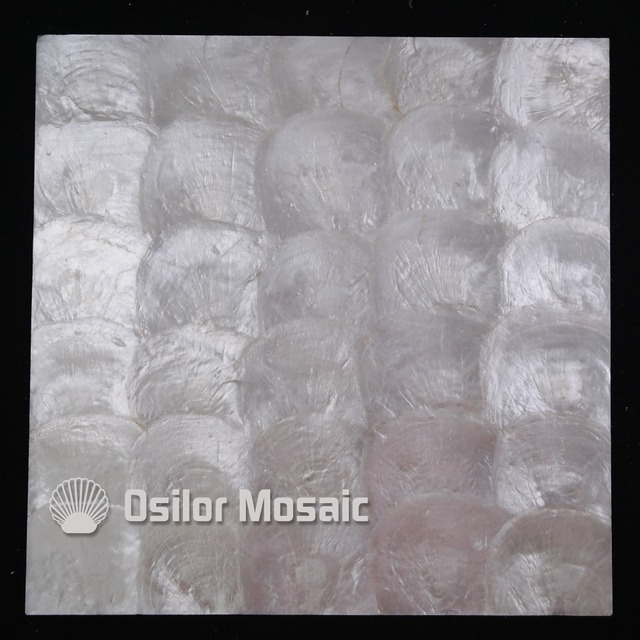 white color natural 100% capiz shell mother of pearl mosaic tile for living room or ceiling