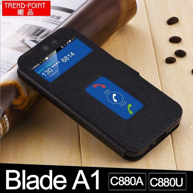 Godgift Zte blade A1 case cover A 1 Windows leather cover for ZTE blade V0840 case Luxury PU ZTE blade c880u c880a Phone case