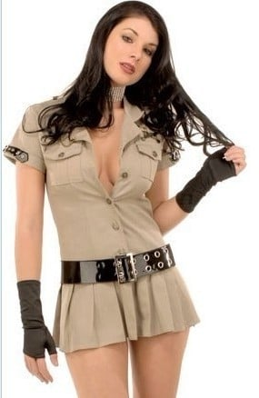 Adult  Army Costume Sexy Women Halloween Police Costume Female Police Cosplay Outfits