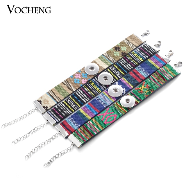 10pcs/lot 18mm Single Custom Vocheng Snap Button Charms Bracelet Original Rope Chain Snap Button Jewelry Vb-072*10 Free Shipping