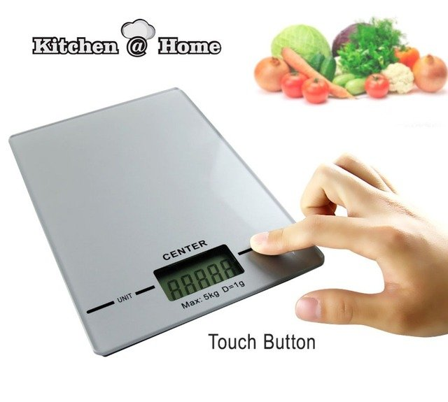 High Precision Electronic Scales Balance Kitchen Digital Scale Of Household Portable Weighing Balance   21*14.5CM 5KG/G KK089