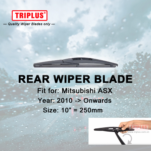 "Rear Wiper Blade for Mitsubishi ASX (2010-Onwards) 1pc 10"" 250mm,Car Rear Windscreen Wipers,for Back Windshield Blades"