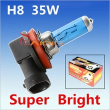 2pcs H8 35W Halogen Bulbs super white Headlights fog lamps day light running Car Light Source parking 6000K 12V High Power