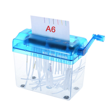 A6 Manual Hand Paper Shredder Document File Handmade Straight Cutting Machine Tool for School Office Home Use