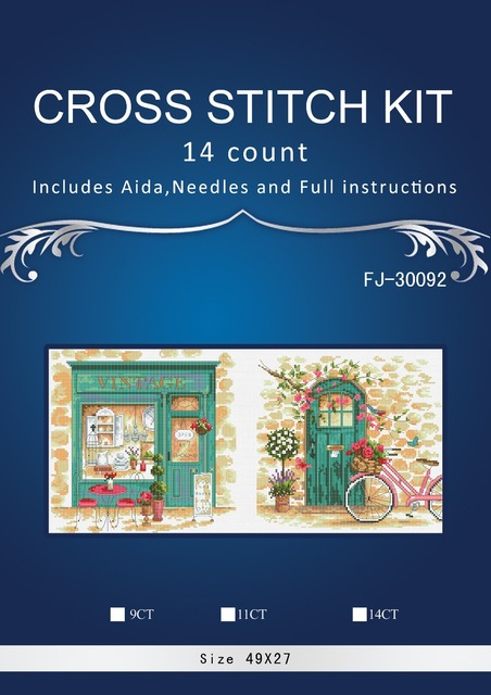 Top Quality lovely counted cross stitch kit Afternoon in Provence vintage shop triptych dimensions 70-353