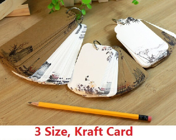1set/lot NEW Vintage Chinese style Ink painting Kraft paper bookmark set/gift Tag/lable/card