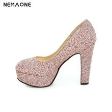 Glittering Fashion Sexy Party High Heel Summer Women Pumps Wedding Shoes Lady Pump Shiny Sequined High Heels shoes