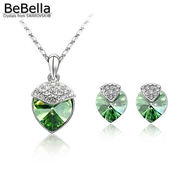 BeBella jewelry sets crystal heart necklace set Made with Swarovski Elements