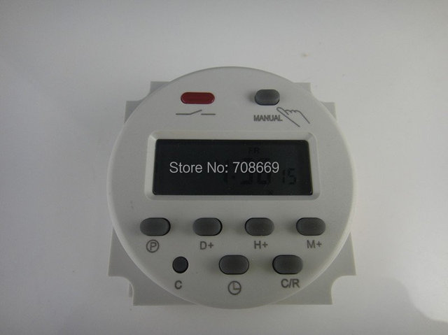 AC 220V Digital LCD Power Programmable Timer Time switch Relay 16A