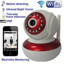 NEW ! IP camera wireless wifi infrared 10m night vision cartoon style mini camera security home cam with motion detector
