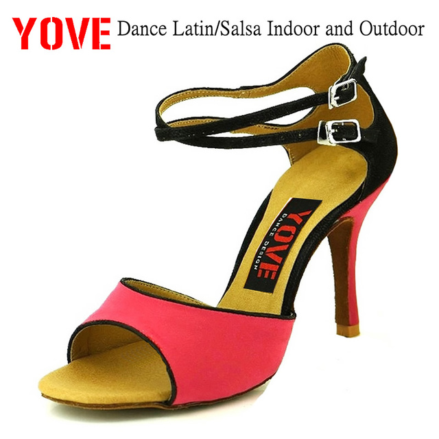 YOVE Style w123-3 Dance shoes Bachata/Salsa Indoor and Outdoor Women's Dance Shoes