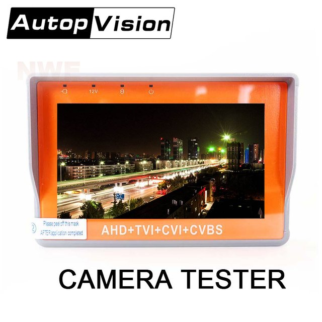 IV7W New Upgrade 5MP 4MP Camera Tester AHD TVI CVI CVBS 4IN1 CCTV Tester 4.3inch Monitor UPT Audio Test DC12V Output