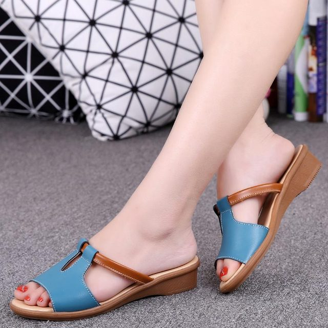 Women sandals 2018 new fashion sandals women shoes zapatos mujer summer beach flats wedge shoes woman slippers