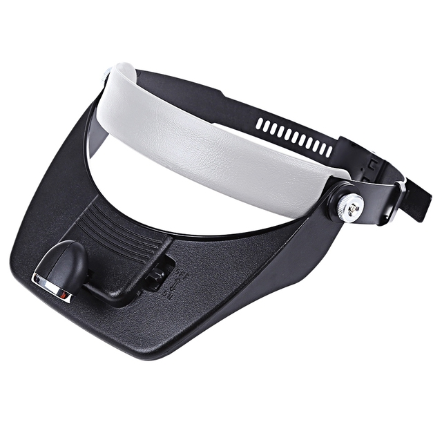 New Head-mounted Magnifier With Illumination Head-worn Magnifying Glass with LED Lamp 3D Lens Convenient to Repair Small Fitting
