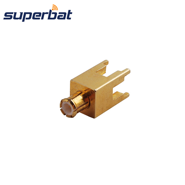 Superbat MCX thru hole Plug Male PCB Mount with Solder Post Goldplated Straight RF Coaxial Connector